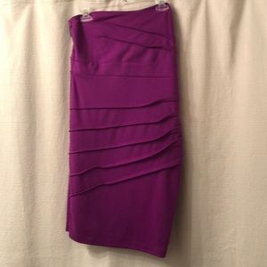 Forever 21+ Purple Strapless Dress
